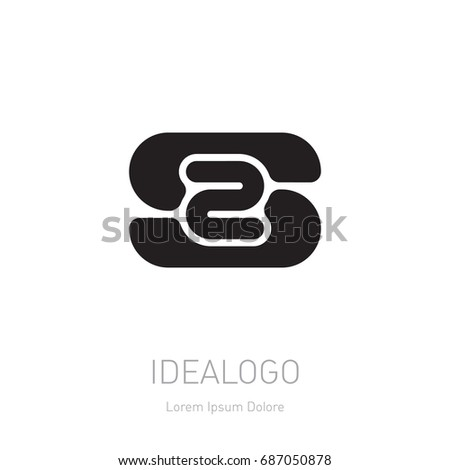 Number 2 labyrinth vector logo template stock vector 673538263 logotype template with letter s and number 2 vector symmetrical design element logo or pronofoot35fo Gallery