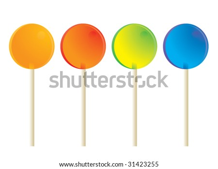 Lollipops isolated - vector