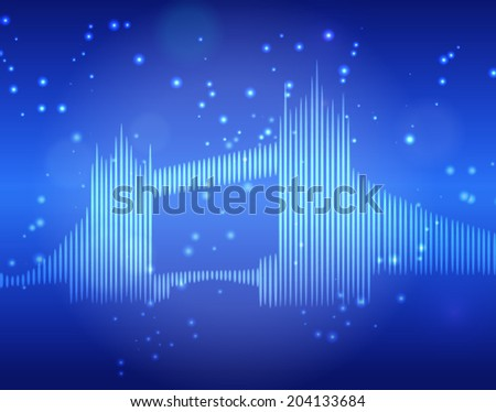 London bridge abstract blue background - stock vector