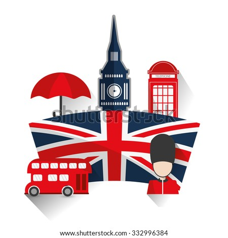 London concept with landmarks icons design, vector illustration 10 eps graphic.