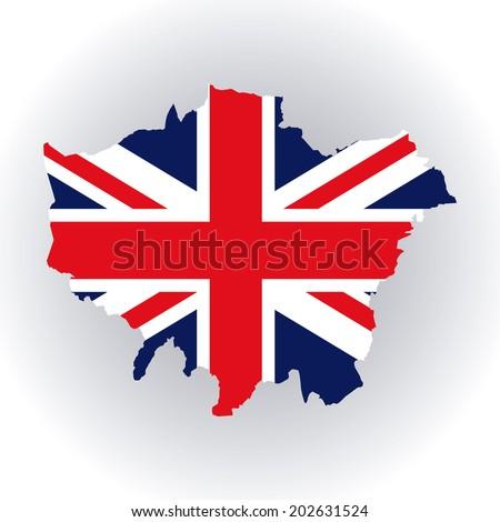 London design over white background, vector illustration - stock vector