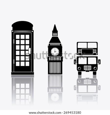 London design over white background, vector illustration. - stock vector