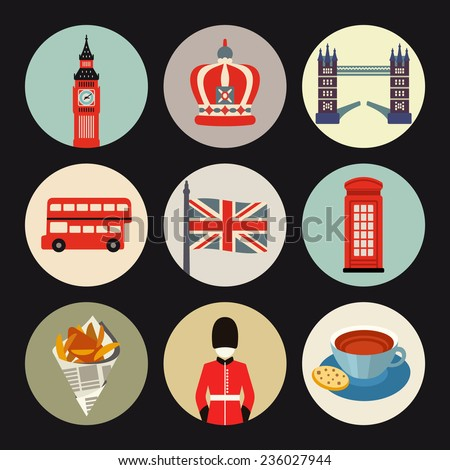 London icons - stock vector