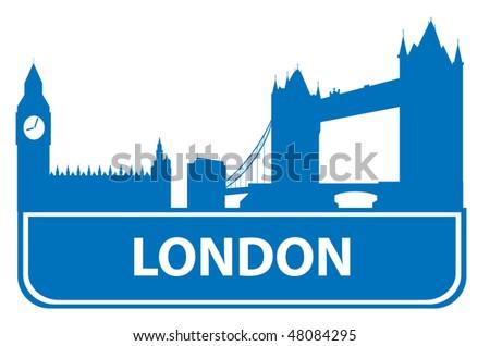 London outline. Vector illustration - stock vector