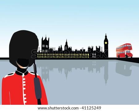 london scenery vector - stock vector
