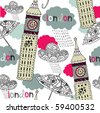 london seamless background - stock vector