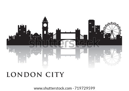 London Skyline Silhouette Vector City Design