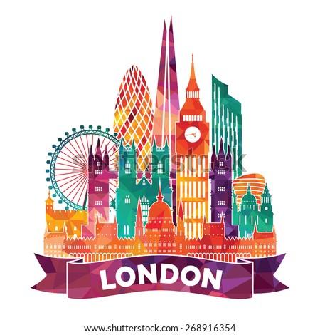 London Skyline Stock Vectors amp Vector Clip Art Shutterstock