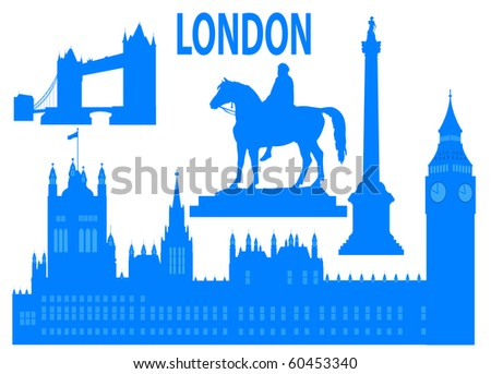 London skyline. Vector illustration for you design - stock vector