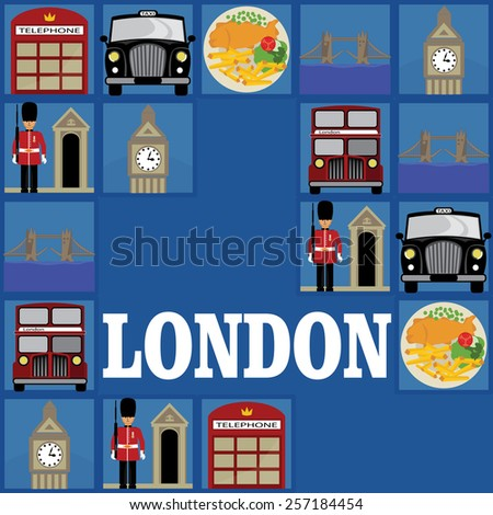 London symbols background - stock vector