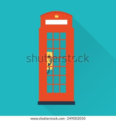 london telephone icon - stock vector