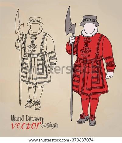 London. Tower set - stock vector