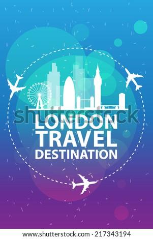 London travel - stock vector