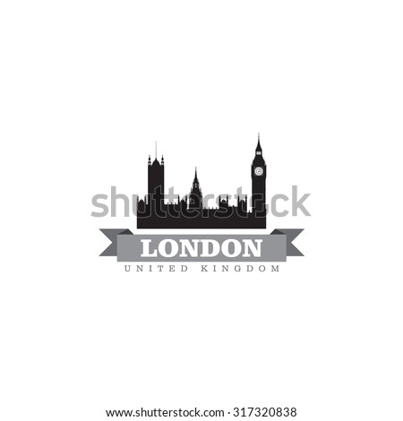 London United Kingdom city symbol vector illustration - stock vector