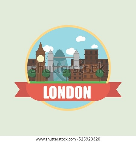 london vector background