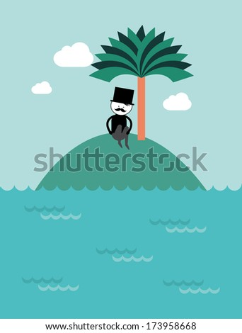 lonely guy vector/illustration - stock vector