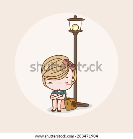 Lonely / Lonely Vector / Lonely Illustration / Lonely Picture / Lonely Drawing / Lonely Image / Lonely Graphic / Lonely Art / Lonely Print / Lonely JPG / Lonely JPEG / Lonely EPS / Lonely AI - stock vector