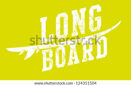 long board vector art - stock vector