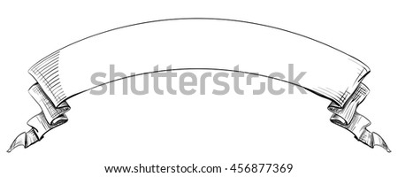 Long Curved Semicircle Arc Strip Sketch Stock Vector ...