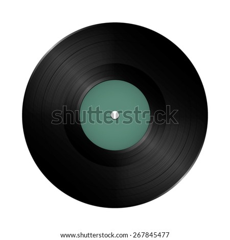 Long play vinyl record disc.