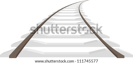 Long rails isolated, vector illustration