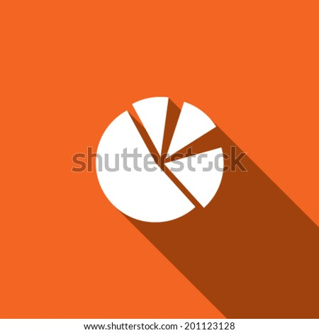 Long Shadow with the shape of a Pie Chart - stock vector