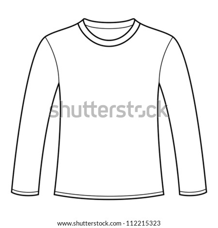 long sleeved t shirt template