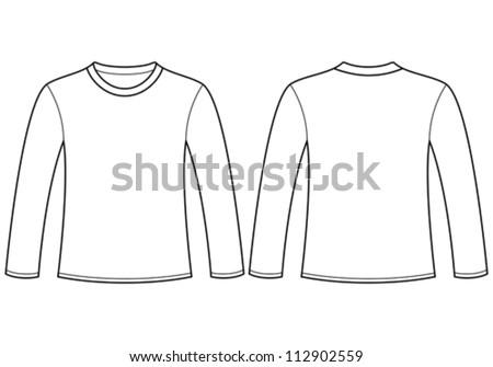 longsleeved tshirt template stock vector 112902559 shutterstock. Black Bedroom Furniture Sets. Home Design Ideas