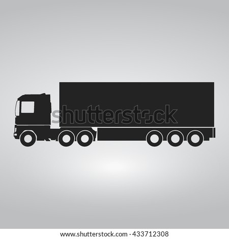 Long Truck Cargo Icon / Long Vehicle Icon