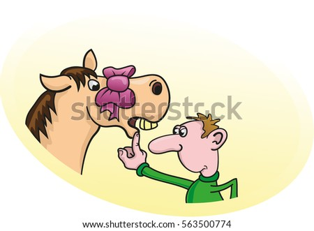 Gift horse stock images royalty free images vectors shutterstock look a gift horse in the mouth negle Image collections