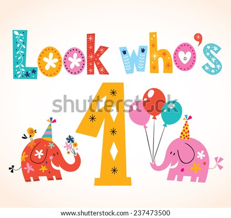 1st Birthday Images RoyaltyFree Images Vectors – 1st Birthday Greetings