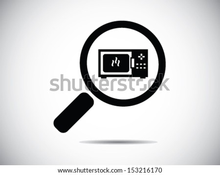 Looking For A Microwave - stock vector