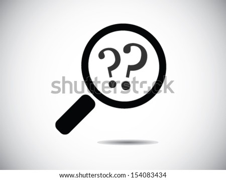 Looking For A Question - stock vector