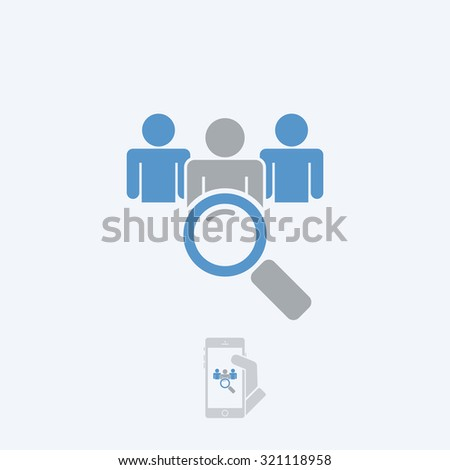 Looking for people - stock vector