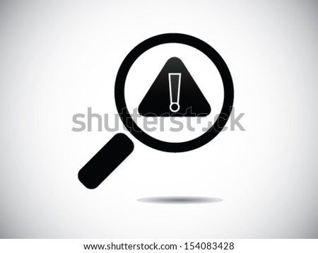 Looking For Something Danger - stock vector