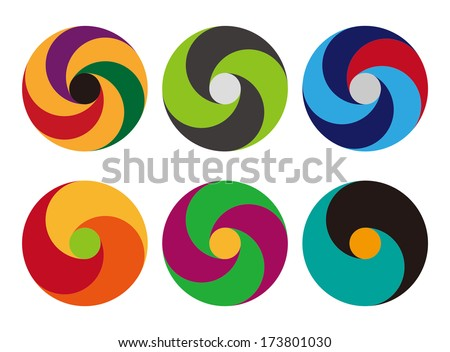 Loop icons. Design logo vector template. You can use in the commerce, app, financial, traffic, construction ,spinning and communication concept of pattern.  - stock vector
