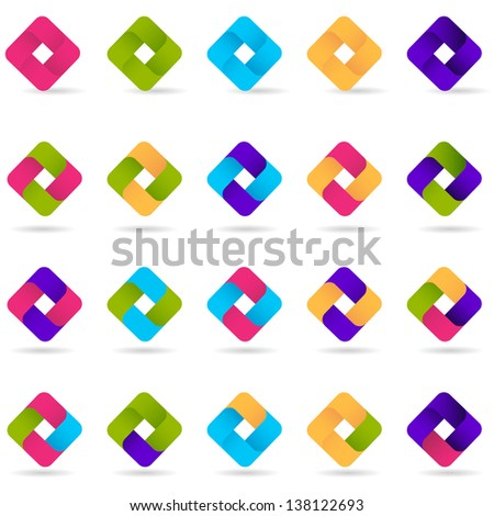 Loop Icons - Set - Isolated On White Background - Vector Illustration, Graphic Design Editable For Your Design. Business Logo