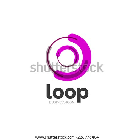 Loop, infinity business icon, logo abstract design - stock vector