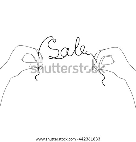 loop vector image of hands with the inscription sale