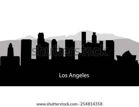 Los Angeles city silhouette - stock vector