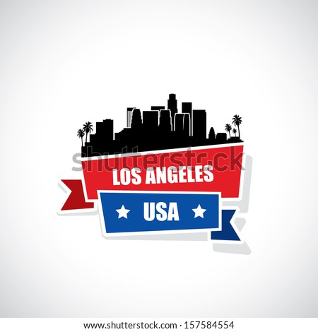 Los Angeles skyline - vector illustration - stock vector