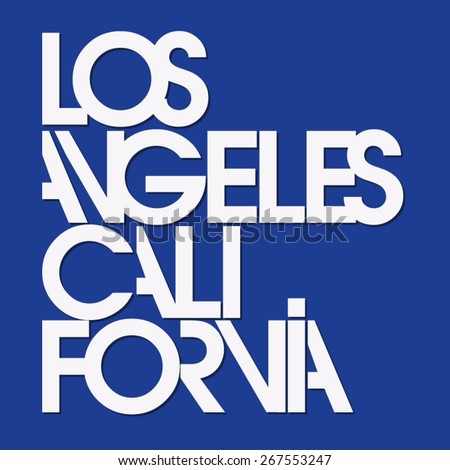 Los Angeles sport typography, t-shirt graphics, vectors