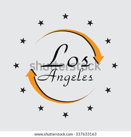 Los Angeles, Vector illustration