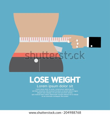 Lose Weight Concept Vector Illustration - stock vector