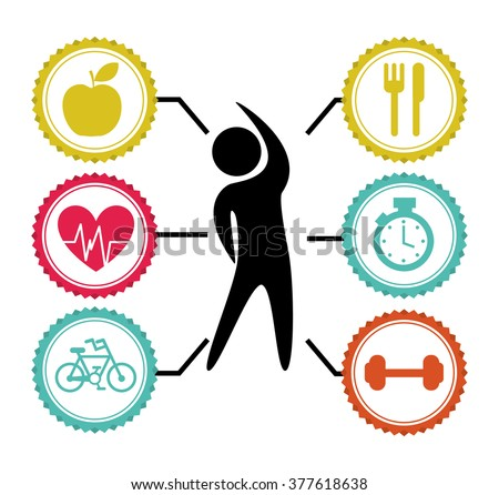lose weight design  - stock vector