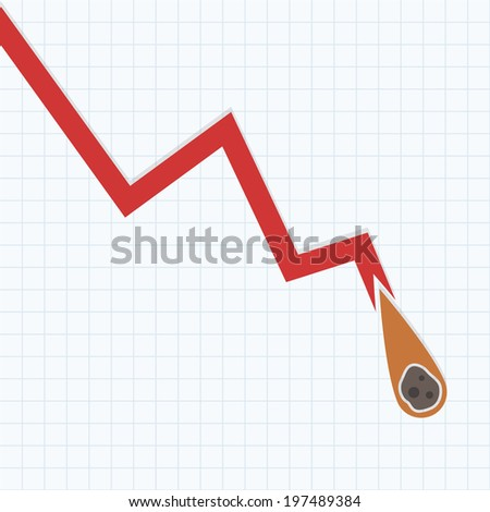 Loss Graph with Falling meteor