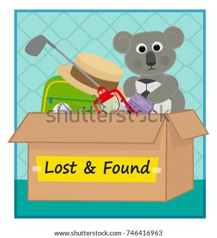 lost found clip art box lost stock vector 746416963 shutterstock rh shutterstock com lost and found clipart images lost and found sign clipart
