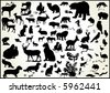lots of animals  vectors with animal scent - stock vector