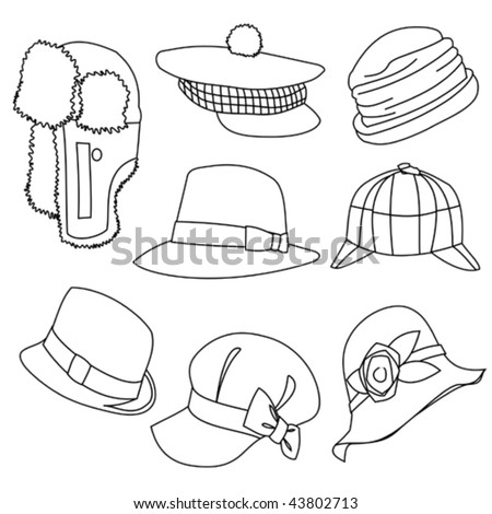 Lots of Hats Line Style