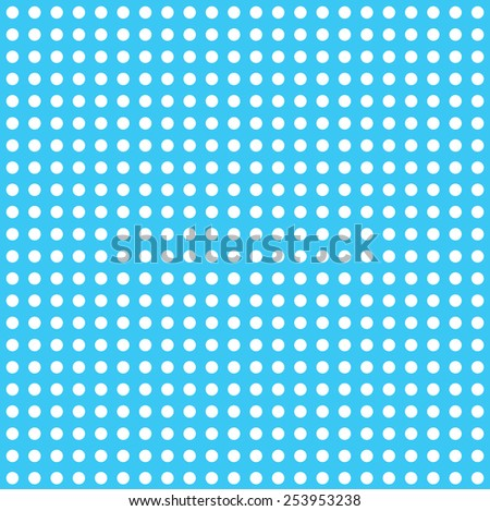 lots of large white dots with blue background - stock vector